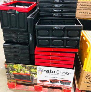 Insta Crate Foldable Storage Bin Container 12 Gallon for Sale in La Puente, CA
