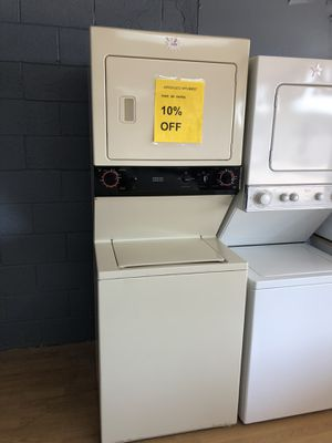 "GE beige stacked washer and dryer unit 27"" for Sale in Woodbridge, VA"