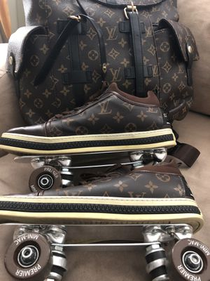 Louis Vuitton roller skate bag with Louis Vuitton Rollerskates with brand new plates and trucks and Flomax wheels with the best ceramic bearings mone for Sale in Columbus, OH
