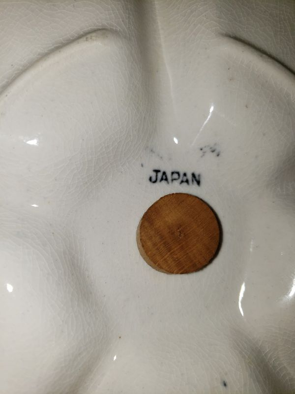 Vintage Snack Tray With Turning Toothpick Holder From Japan