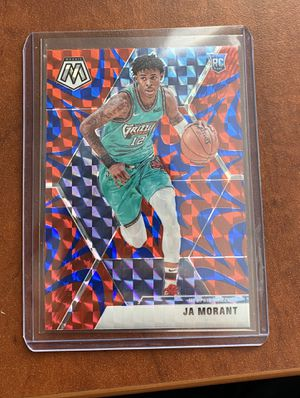 2019-20 Panini Mosaic Ja Morant #219 Reactive Blue Mosaic RC SP Prizm Grizzlies for Sale in Redwood City, CA