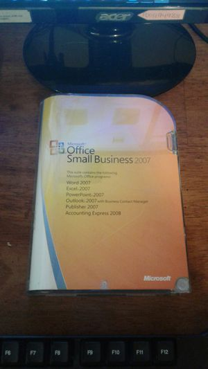 Microsoft office Small Business 2007 for Sale in Wheeling, WV