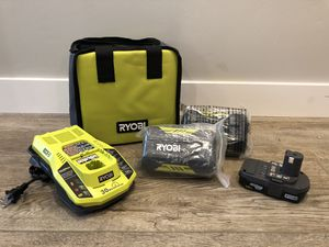 Ryobi Power Tool Batteries and Charger for Sale in San Diego, CA