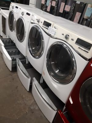 FRONT LOAD WASHER AND DRYER WORKING PERFECTLY 4 MONTHS WARRANTY DELIVERY AVAILABLE for Sale in Baltimore, MD