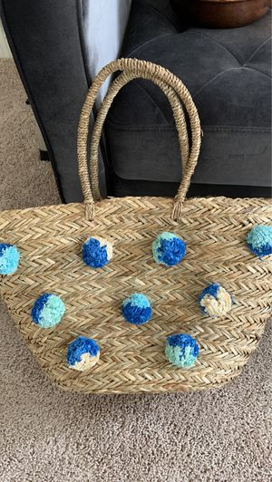 Super Cute Straw Insulated Bag for Sale in Conroe, TX