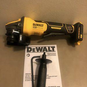 "Dewalt FlexVolt Advantage 20 Volt Max Brushless Paddle Switch Small 5"" Angle Grinder. Tool Only. for Sale in Elmwood Park, IL"