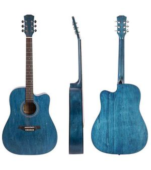 MFinger 4 String Acoustic Guitar, Right, Blue (Full Size 41 inch for Sale in San Francisco, CA