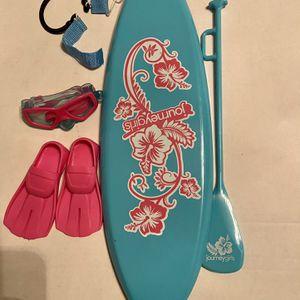 "18"" doll size paddleboard snorkel set for Sale in El Monte, CA"
