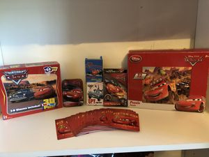 Disney Cars puzzle, game lot sale! Lightning McQueen ! Playing cards, 3D puzzle, I spy, crazy 8's & more! for Sale in Phoenix, AZ