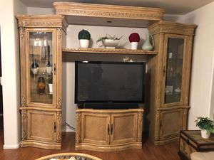 Solid wood Entertainment Center for Sale in Goodyear, AZ