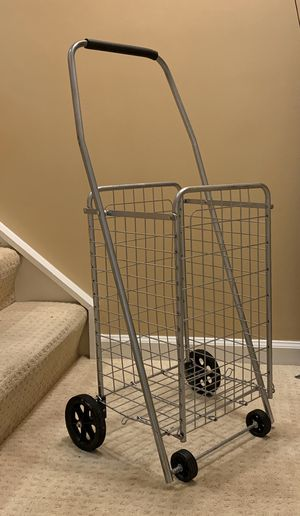 Foldable metal shopping cart for Sale in Sterling, VA