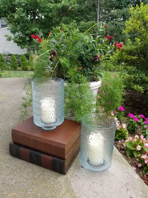 Home Decor Two New Glass Candle Holders for Sale in Jackson Township, NJ