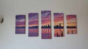 Seattle skyline canvas for Sale in Tacoma, WA