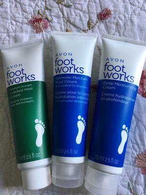 Avon Foot Works Creams (3 total) for Sale in Pembroke Pines, FL