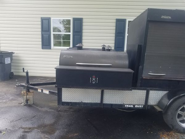 Industrial Traeger bbq grill/mobile