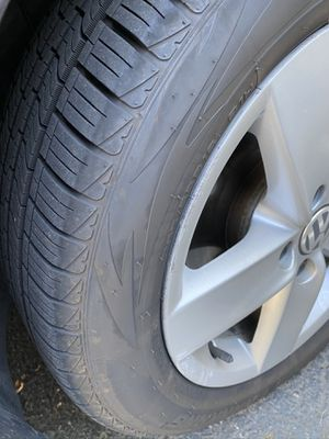 VW wheels and tires. Brand new tires with warranty included Jetta 5x112 Passat Volkswagen for Sale in Portland, OR