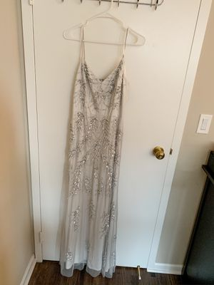 BHDLN Wedding or Bridesmaid Dress - white / sliver, Size 10 for Sale in Chicago, IL