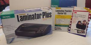 Royal Laminator and supplies (new) for Sale in Santa Maria, CA