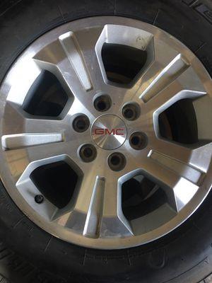 "18"" Chevy stock wheels Bridgestone for Sale in Dinuba, CA"
