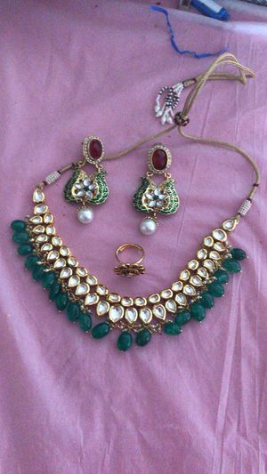 Diamond set with earrings and ring for Sale in Glendale, CO