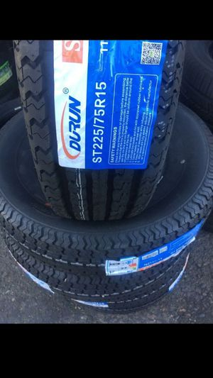 MONKEY wheels and tires 225 75 15 for Sale in Phoenix, AZ