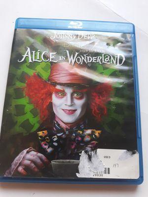 Disney bluray Johnny Depp alice in Wonderland for Sale in Lancaster, OH