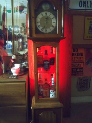 Grandfather clock with blue tooth speaker. And. Wifi controllable lighting for Sale in Brooklyn, OH