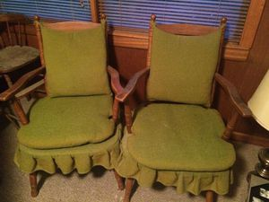 Antique chairs one chair rocks for Sale in Houston, TX