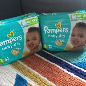 Pampers Diapers, Size 3 for Sale in New Britain, CT