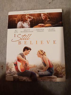 I Still Believe ( Blu Ray+Dvd+Digital+Slipcover) New Sealed Shania Twain Britt Robertson for Sale in Hamlet, IN