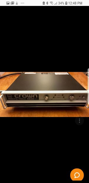 Crown Macro Tech Amplifier 3600 VZ Excellent Condition for Sale in New York, NY