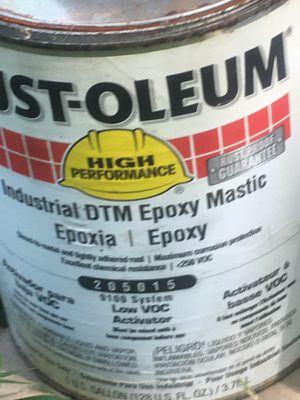 Rustoleum Idustrial DTM Epoxy Mastic for Sale in Martinsburg, WV