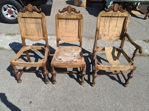 Five antique wooden chairs - DIY project for Sale in Mountain View, CA
