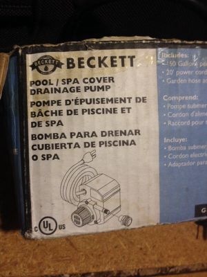 Beckett Pool Drainage Pump for Sale in Tucker, GA