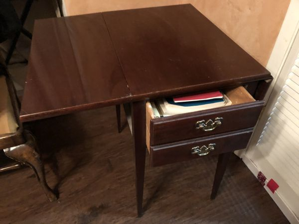 Drop Leaf Table with Drawer