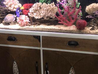 75g Fish Tank with Cabinet for Sale in Santa Clarita,  CA