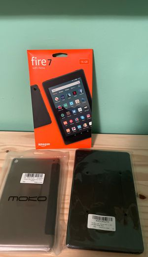 Fire 7 tablet with two cases for Sale in San Francisco, CA