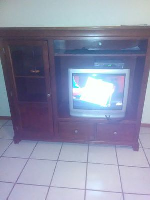 Cherry wood tv hutch-$100 OBO for Sale in Canutillo, TX