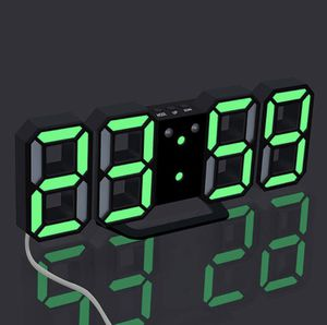 NEW LED green digital clock. For wall bedroom dining living office bedroom boys computer Valentines gift for Sale in Los Angeles, CA