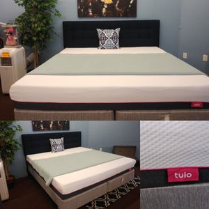 King Size Tulo memory foam mattress & Boxspring & bed frame for Sale in Tampa, FL