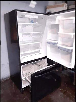 Like brand new black bottom freezer refrigerator for Sale in Tampa, FL