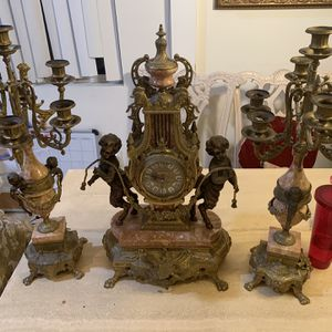 Candelabra And Clock Set for Sale in Los Angeles, CA