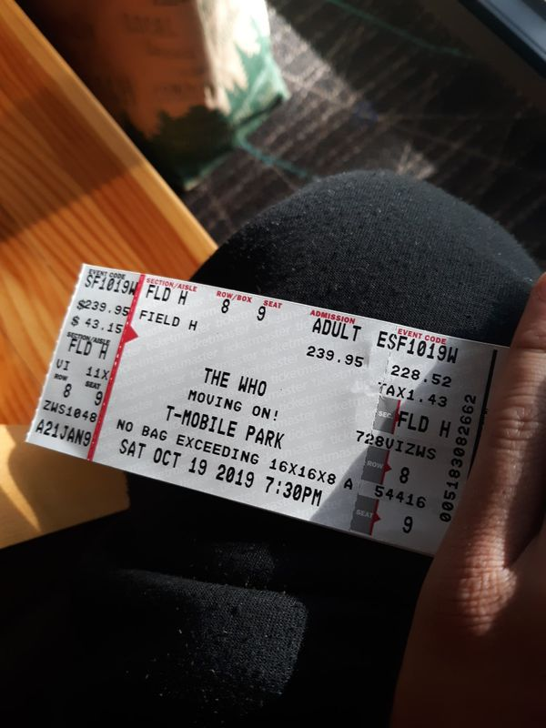 The Who ticket