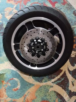 Harley 2006-2013 Rim tire and floating disc for Sale in RAISINVL Township, MI