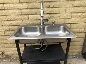 Glacier Bay stainless kitchen sink with faucet for Sale in Brighton, CO