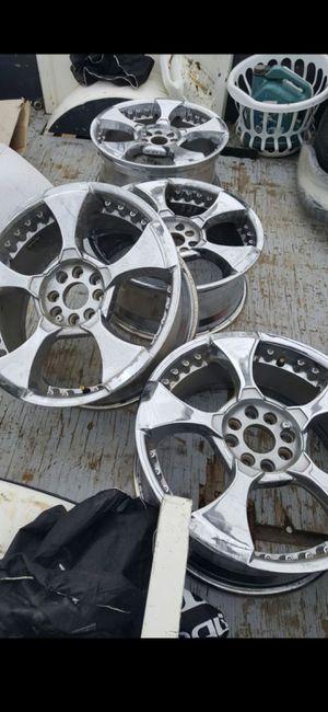 "18"" x 7.5"" universal 4 lug wheels / rims. No center caps. for Sale in Riverside, CA"