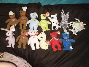 13 miniature ty beanie babies for Sale in West Peoria, IL
