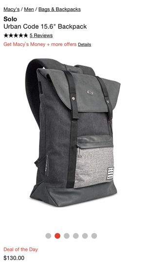 """Solo Urban Code Backpack 15.6"""" for Sale in Irwindale, CA"""