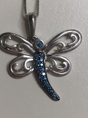 10k & 14k Genuine BLUE DIAMOND Dragonfly for Sale in Suffield, CT