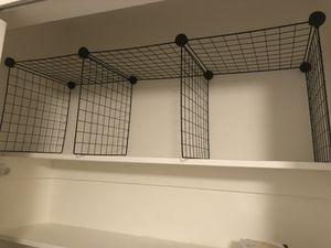 3 cube grid shelving units for closet, kitchen or garage for Sale in Annandale, VA
